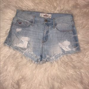 Hollis tee distressed shorts
